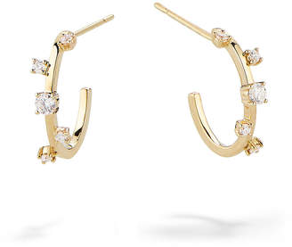 Lana 14k Gold & Diamond Solo Hoop Earrings