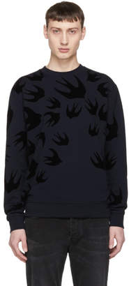 McQ Navy Swallow Swarm Clean Sweatshirt