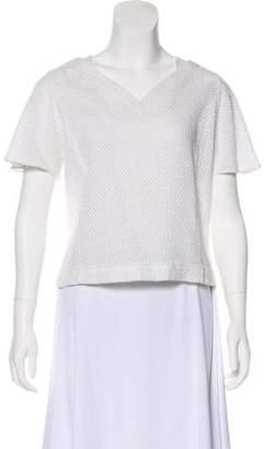 Maiyet Short Sleeve Open Knit Top