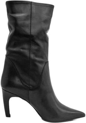Ankle Boot In Smooth Black Leather.