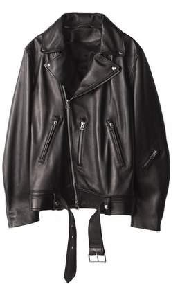 Acne Studios Nate Leather Biker Jacket