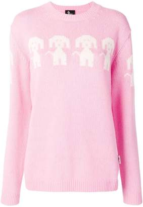 Moncler dog embroidered sweater