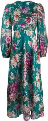 Zimmermann floral print peasant-sleeve dress