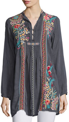 Johnny Was Sheela Embroidered Long Tunic $235 thestylecure.com