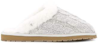 Marc Cain cable knit slippers