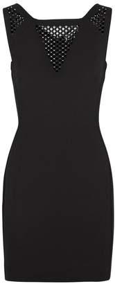Versace Stud-embellished Panelled Dress