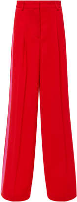 MSGM Two-Tone Crepe Wide-Leg Pants