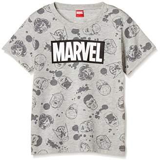 Disney (ディズニー) - [ディズニー] マーベル総柄BOXロゴTシャツ 332117501 ボーイズ グレー 日本 130 (日本サイズ130 相当)