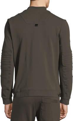 Antony Morato Men's Biker Zip-Front Sweatshirt
