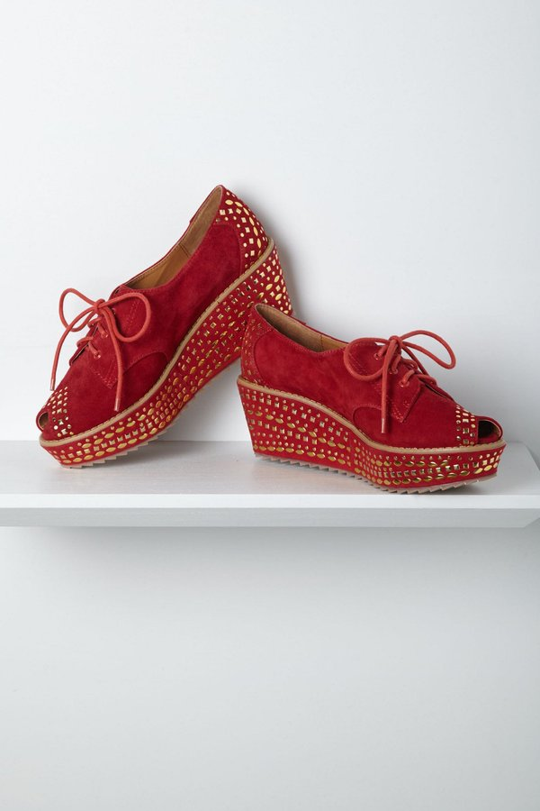 Anthropologie Transformation Studded Wedges