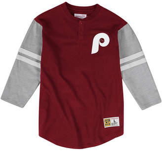 Mitchell & Ness Men Philadelphia Phillies Heyday Henley T-Shirt