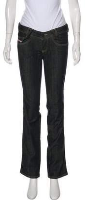 Diesel Low-Rise Straight-Leg Jeans