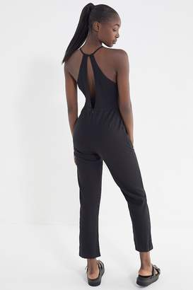 Urban Outfitters Hattie High-Neck Linen Jumpsuit