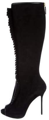 Olgana Suede Knee-High Boots