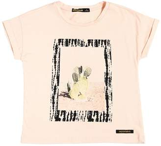 Finger In The Nose Cactus Print Cotton Jersey T-Shirt
