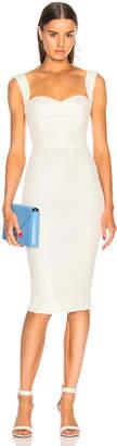 Victoria Beckham Sequin Curve Cami Fitted Midi Dress