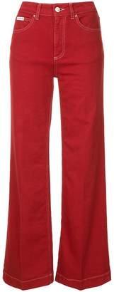 ALEXACHUNG Alexa Chung high-waist wide-leg trousers