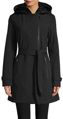 DKNY Belted Soft Shell Jacket