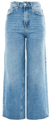 Topshop MOTO Cropped Wide Leg Jeans 30-Inch Leg