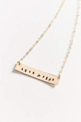 Oxbow Designs Love Over Fear Bar Necklace