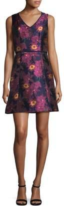 Julia Jordan Women's Floral Jacquard Dress