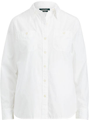 Ralph Lauren Lauren Broadcloth Button-Down Shirt $79.50 thestylecure.com