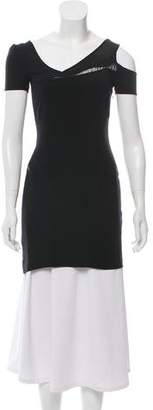 Helmut Lang Cutout-Accented Short Sleeve Tunic