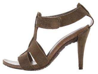Pedro Garcia Suede T-Strap Sandals