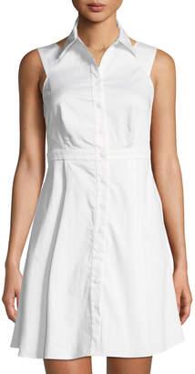 Zac Posen Isobel Sleeveless Fit-and-Flare Shirtdress