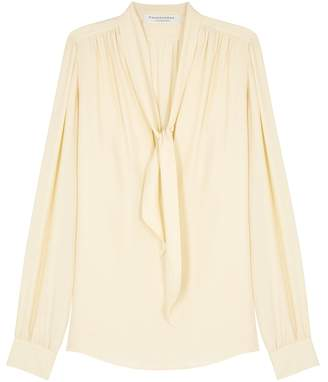 Philosophy di Lorenzo Serafini Ecru Pleated Blouse