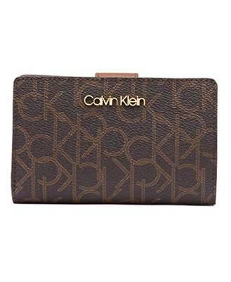 5b0c30574d8 Calvin Klein Key Item Signature Monogram Small Snap Closure Wallet