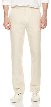 Isle Bay Linens Men's Easy Care 100% Linen Flat Front Pant