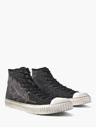 John Varvatos Feather Jacquard Mid-Top
