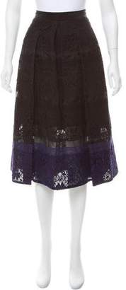 Rebecca Taylor Lace Knee-Length Skirt