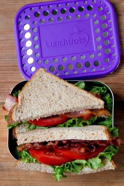 LunchBots Purple Dots Classic Uno One Section Lunch Container