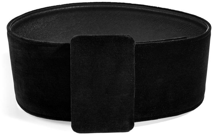 Jil Sander Velvet Belt in Black