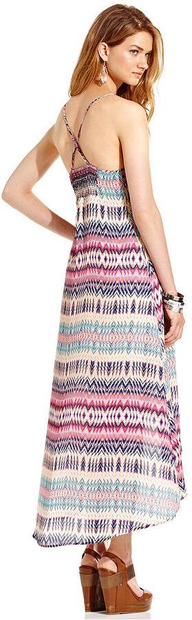 Tommy Hilfiger Juniors Dress, Sleeveless Printed High-Low