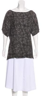 Elizabeth and James Abstract Print Short Sleeve Top
