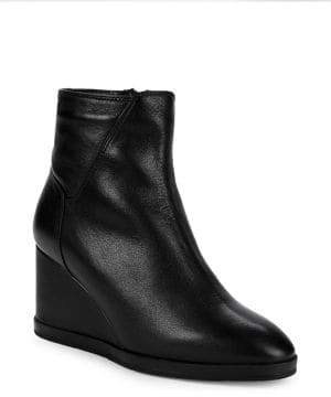 Aquatalia Judy Weatherproof Leather Wedge Booties