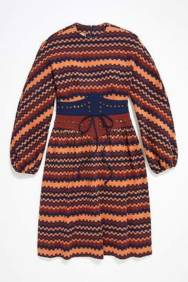 Vintage Loves Vintage Geometric Belt Dress