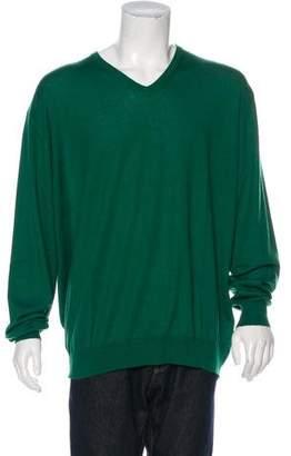 Dalmine Per Bruno Cannes Cashmere V-Neck Sweater w/ Tags