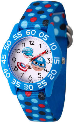 Marvel Emoji Boys Blue Strap Watch-Wma000075