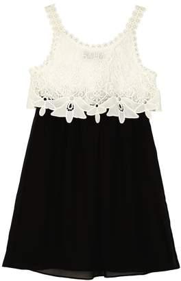 Amy Byer Iz Girls 7-16 IZ Lace Popover Dress