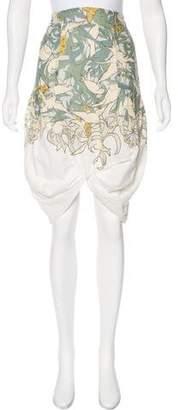 Emma Cook Printed Knee-Length Skirt