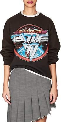 "Madeworn Women's ""Van Halen"" Distressed Cotton-Blend Sweatshirt"