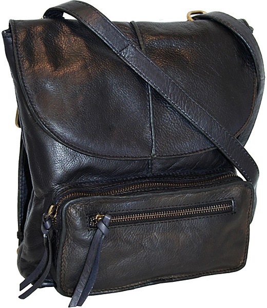 Nino Bossi Convertible Cross Body to Back Pack with Front Cargo Pocket
