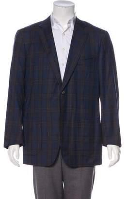 Isaia Plaid Super 140's Wool Blazer