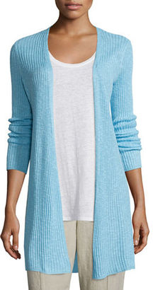Eileen Fisher Organic Long Slim Ribbed Cardigan $218 thestylecure.com