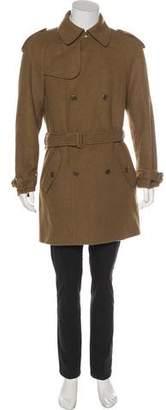 Bottega Veneta Double-Breasted Cashmere Trench Coat w/ Tags