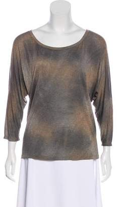 L'Agence Long Sleeve Stretch Knit Top